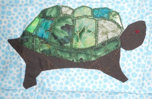 embroidered edges turtle