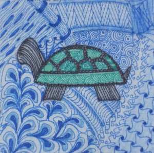 Zentangle turtle