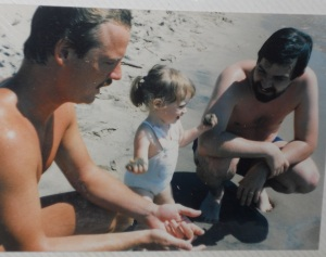 Beach Dad with Uncle Shawn