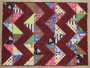chevron kids quilt
