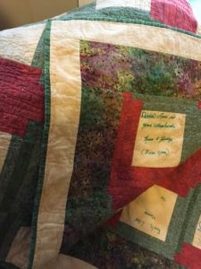 close-up photo of jas quilt