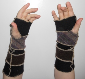 arm warmers long dark inside