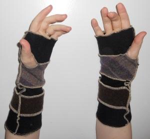 arm warmers long dark inside