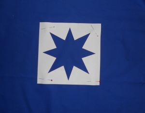 crumb star on blue template