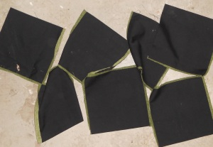 cut out four-patches
