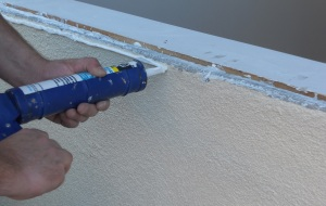 Caulking to seal