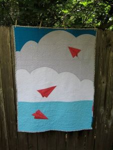 paper airplane quilt