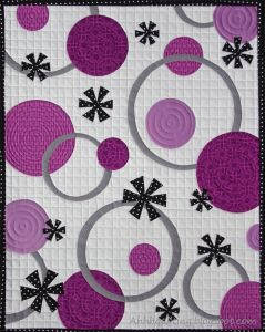 purple circles quilt