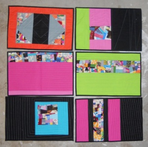 set of 6 bright crumbs placemats
