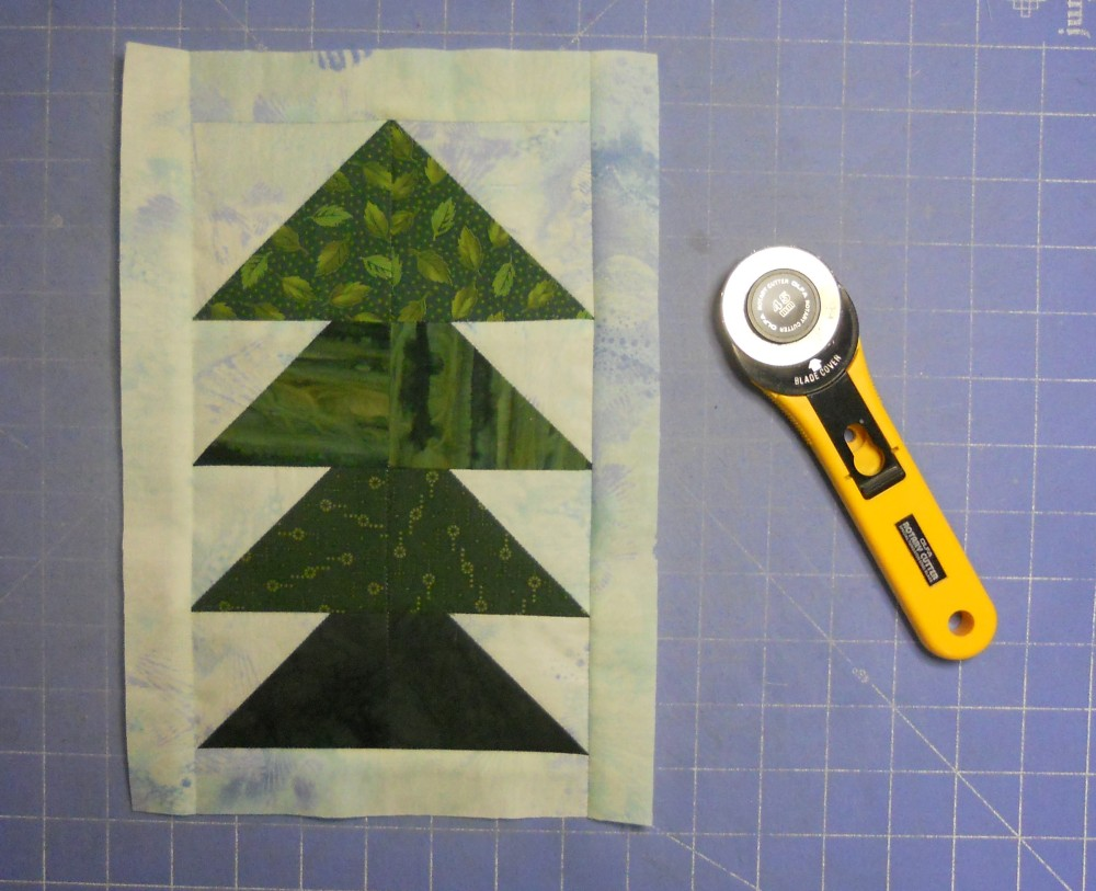 Treeline Border for Turtles Quilt (5/6)