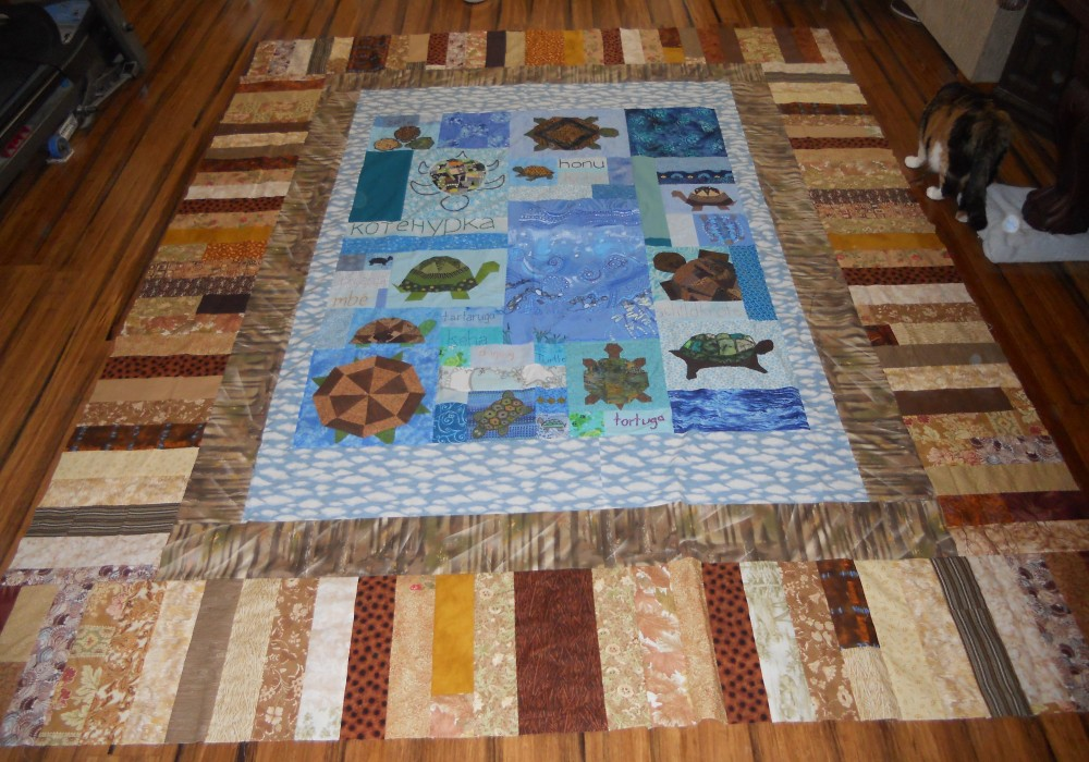 Treeline Border for Turtles Quilt (6/6)